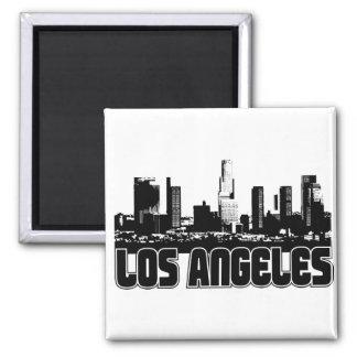Los Angeles-Skyline Quadratischer Magnet