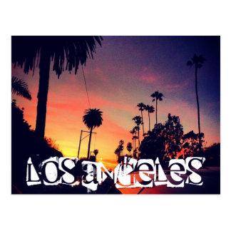 LOS ANGELES-SONNENUNTERGANG POSTKARTE