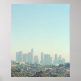 Los Angeles-Stadtbild Poster