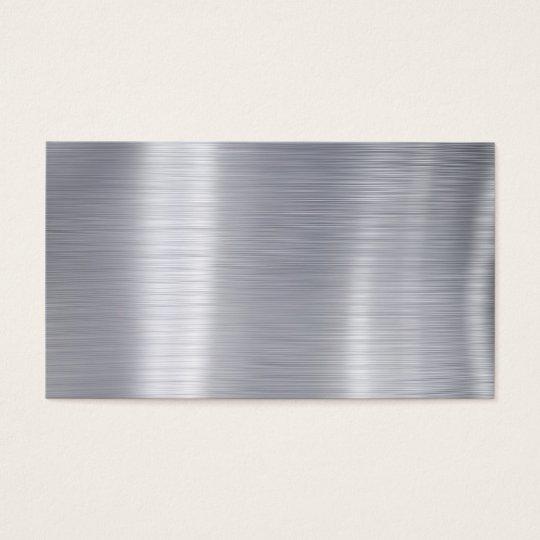 l schen sie geb rstetes aluminium imitat aluminium visitenkarte zazzle. Black Bedroom Furniture Sets. Home Design Ideas