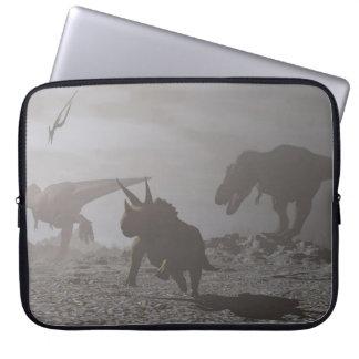 Löschung der Dinosaurier - 3D übertragen Laptopschutzhülle