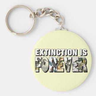 Löschung ist Forever Schlüsselanhänger