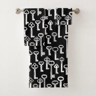 Lose des alten Schlüssel-Musters Badhandtuch Set