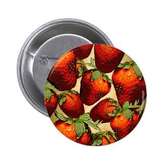 Lose Erdbeeren Runder Button 5,7 Cm