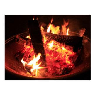 Lose Feuer und Kohlen Postkarte