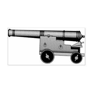 Lose Kanone Gummistempel