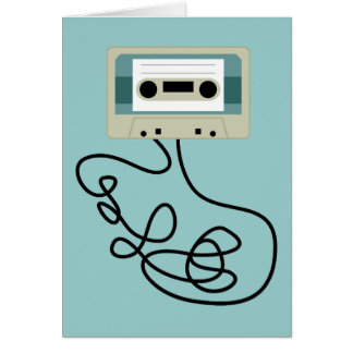 Lose Kassetten-Schleifen Grußkarte