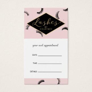 Lose Peitschen peitschen Salon-rosa/schwarze Visitenkarten