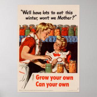 Lose zum zu essen! Vintages Plakat