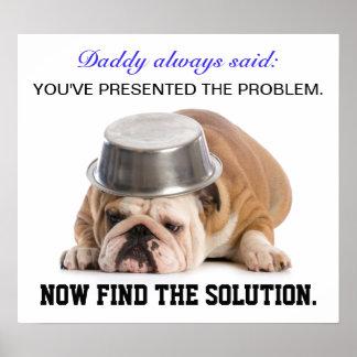 Lösen- von ProblemenSpaß-Plakat Poster