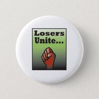 LosersUnite2 Runder Button 5,7 Cm