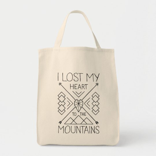 Lost my heart to the mountains tragetasche