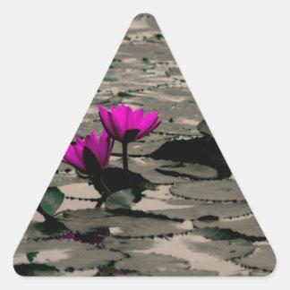 Lotos-Blume Dreieckiger Aufkleber
