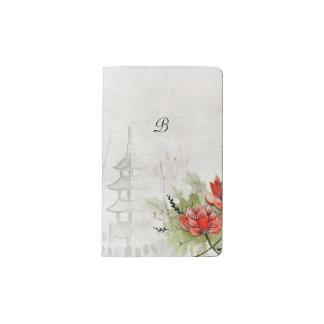 Lotos-Blume Moleskine Taschennotizbuch