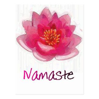 "Lotos-Blume ""Namaste"" Yoga-Geschenke Postkarte"