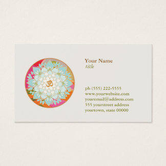 Lotos-Blume OM-Symbol-Yoga-Meditations-Lehrer Visitenkarte