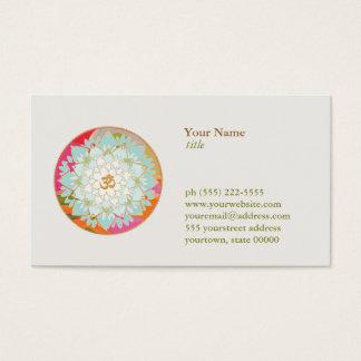 Lotos-Blume OM-Symbol-Yoga-Meditations-Lehrer Visitenkarten