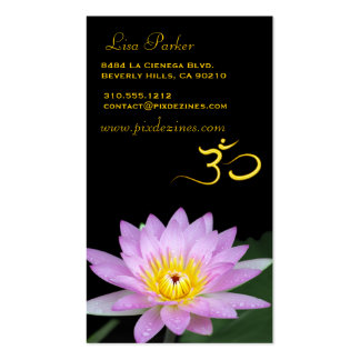 Lotos-Blume OM-Yoga Heiler Visitenkartenvorlagen