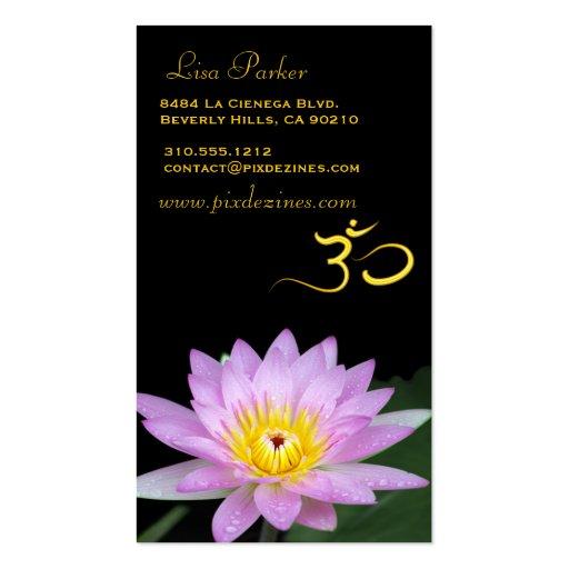 Lotos-Blume, OM-Yoga, Heiler Visitenkartenvorlagen