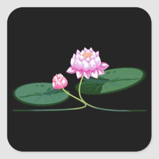 Lotos-Blume Quadratischer Aufkleber