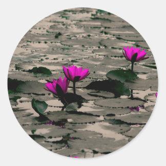 Lotos-Blume Runder Aufkleber