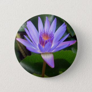 Lotos-Blume Runder Button 5,1 Cm