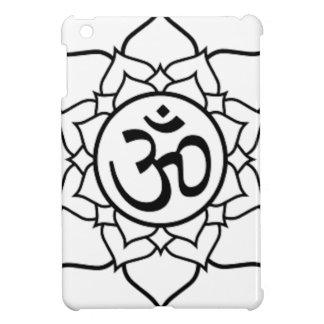 Lotos-Blume, schwarz mit weißem Hintergrund iPad Mini Hülle