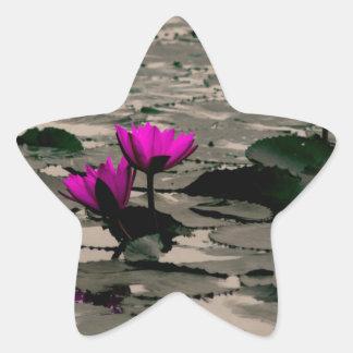 Lotos-Blume Stern-Aufkleber