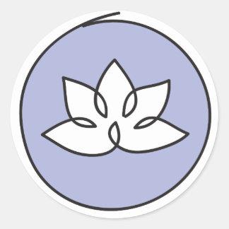 Lotos-Blumen-Aufkleber Runder Aufkleber