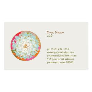 Lotos-Blumen-Logo OM-Symbolgesundheit und Wellness Visitenkarten