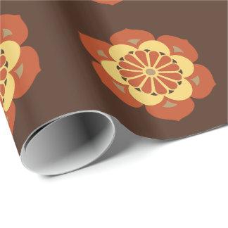 Lotos-Blumen-Mandala, Brown, Rost und Gelb Geschenkpapier