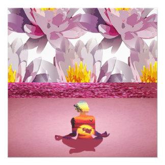 Lotos-Blumen-Meditations-Dame Fotodruck
