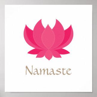 Lotos-Blumen-Meditations-Plakat Poster