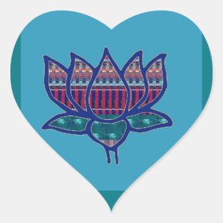 Lotos-Blumen-reine geistige Yoga-Meditation Herz-Aufkleber