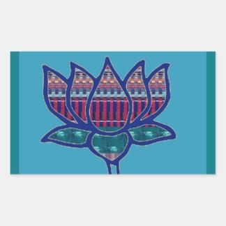 Lotos-Blumen-reine geistige Yoga-Meditation Rechteckiger Aufkleber