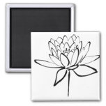 Lotos-Blumen-Schwarzweiss-Tinte, die Kunst