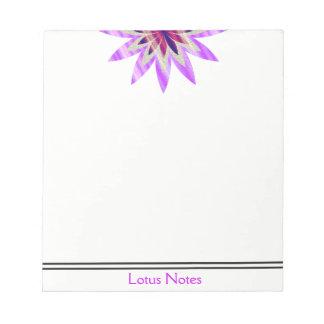 Lotos-Blumen-Yoga-Lehrer-holistischer Klassiker Notizblock