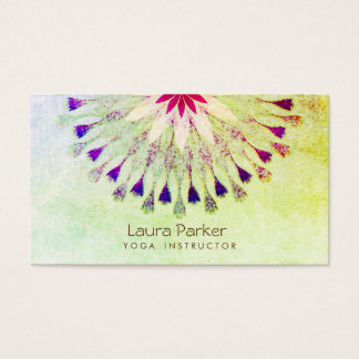 Lotos-Blumen-Yoga-Lehrer-Meditation holistisch Visitenkarte