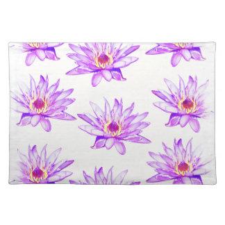 Lotos-Blumencreme inky Tischset
