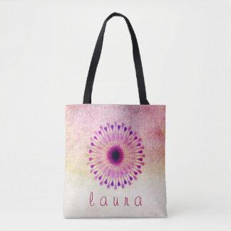 Lotos-Blumewatercolor-Hochzeits-Braut Tasche