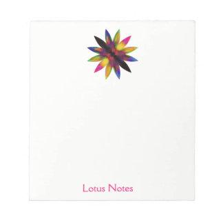 Lotos-Blumewatercolor-Yoga-Lehrer holistisch Notizblock