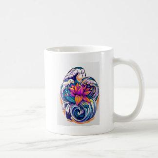 Lotos in den Wellen Kaffeetasse
