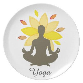 Lotos-Pose-Meditations-Yoga-Illustration Melaminteller