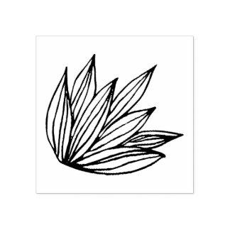 Lotos-Skizze-Briefmarke Gummistempel