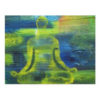 Lotos-Yoga-Pose-ursprüngliche Gesundheits-Übung Postkarte