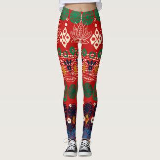 Lotosblock Weihnachten Leggings