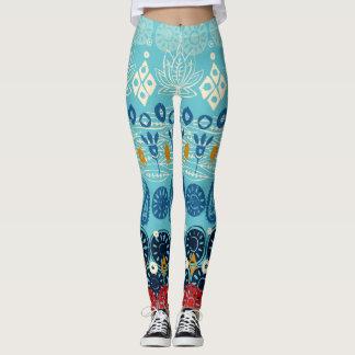 Lotosblockblau Leggings