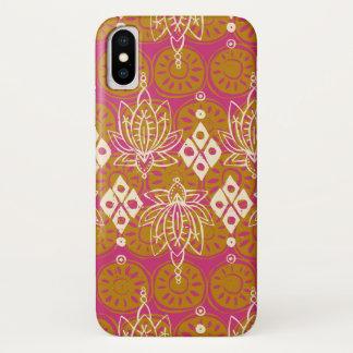 Lotosdiamantrosa iPhone X Hülle