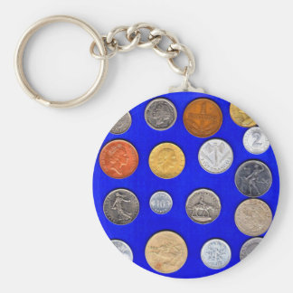 lotsa alte fremde Münzen Schlüsselanhänger