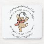 Lotta kerbt glücklichen Teddybären Mauspads
